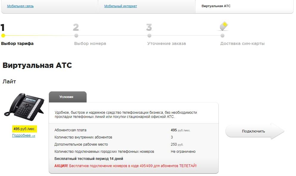 Виртуальная АТС Телетай